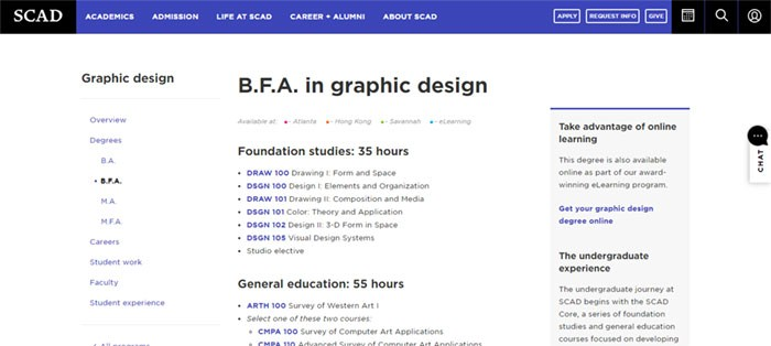 SCAD-BFA-in-Graphic-Design Graphic Design Courses: Learn Graphic Design Online