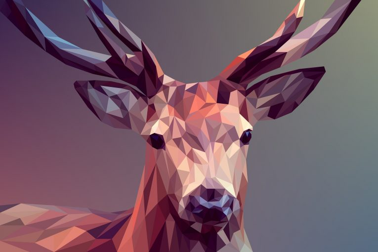 Deer graphic design art