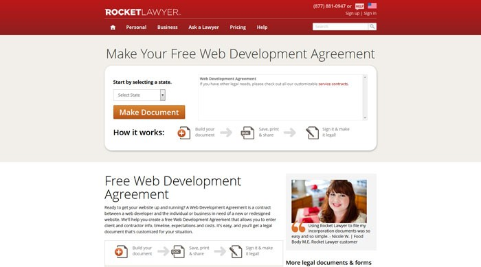 rocketlawyer_com_document_web-development-agreement_rl How To Have A Good Design Contract With Your Clients