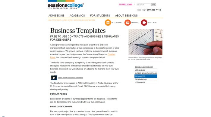 sessions_edu_for-students_career-center_tools-quizzes_business-templates How To Have A Good Design Contract With Your Clients