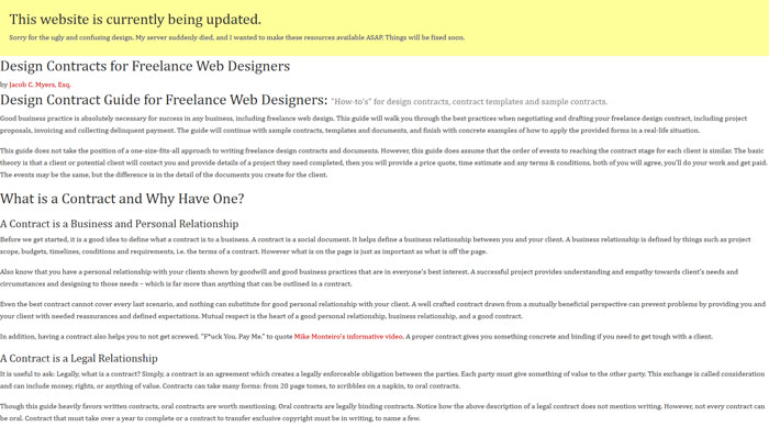 webdesignlaw_com How To Have A Good Design Contract With Your Clients